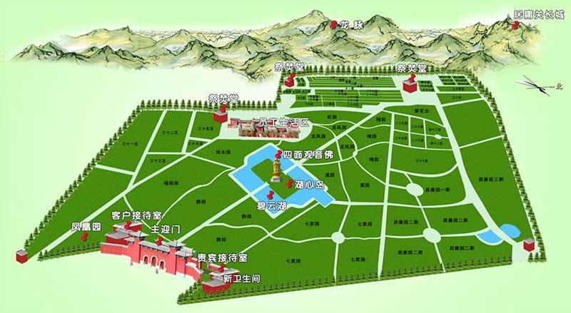 凤凰山陵园墓区规划图