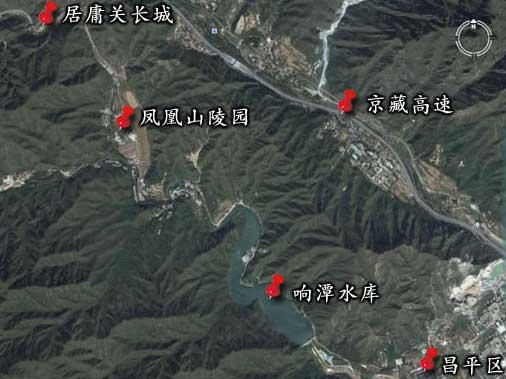 凤凰山陵园卫星实拍