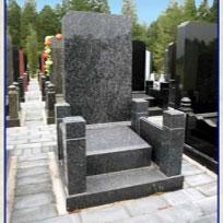 蓝珍珠石料墓